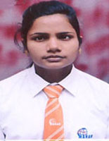 MAHAR student lakshmi Devi   is congratulated for being an achiever.